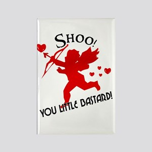 Shoo fly Cupid Anti-Valentine Rectangle Magnet