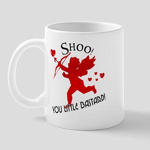 Shoo fly Cupid Anti-Valentine Mug