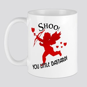 Shoo fly Cupid Anti-Valentine Mug
