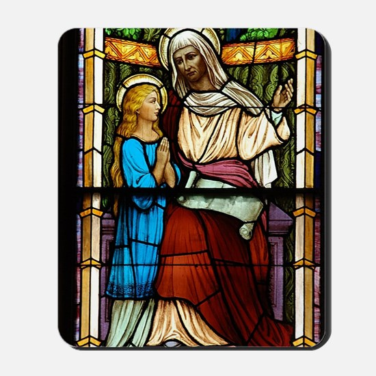 St Anne with Mary Mousepad