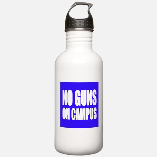 No Guns On Campus Water Bottle