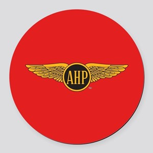 Alpha Eta Rho Wings Round Car Magnet