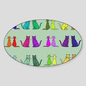 Rainbow Of Cats Sticker