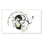 The thunder god Rectangle Sticker