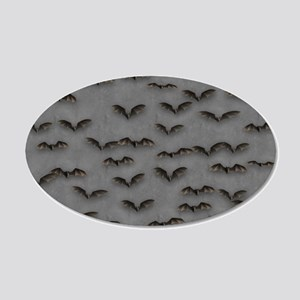 Bats On Gray Wall Decal