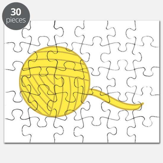 Yellow Ball of Yarn Puzzle