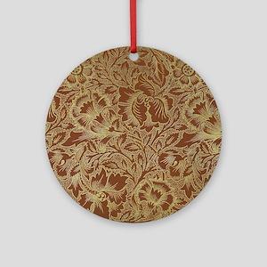 William Morris Poppy  Round Ornament