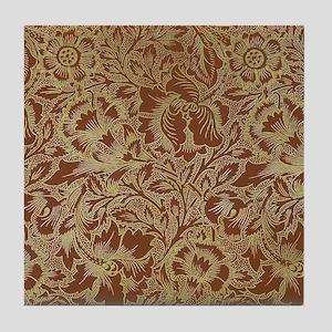 William Morris Poppy  Tile Coaster