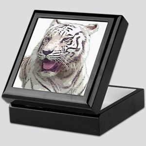 white tiger 4 Keepsake Box