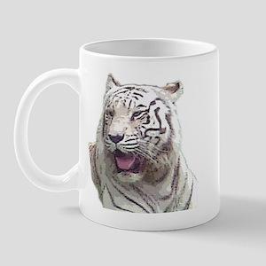 white tiger 4 Mug
