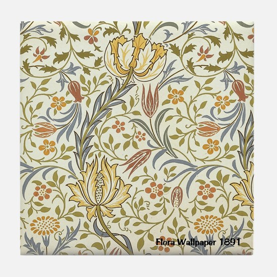 William Morris Floral Tile Coaster