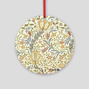 William Morris Floral Round Ornament