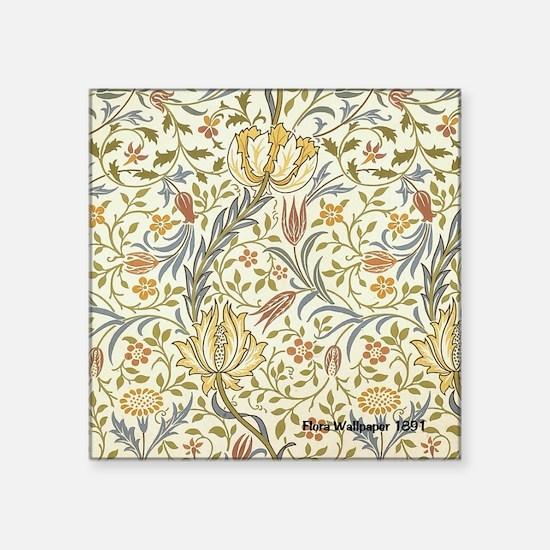"""William Morris Floral Square Sticker 3"""" x 3"""""""