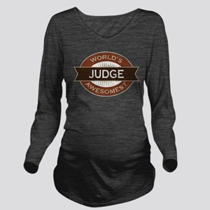 Judge (World's Awesomest) Long Sleeve Maternity T-