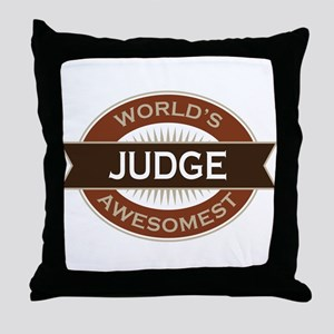 Judge (World's Awesomest) Throw Pillow