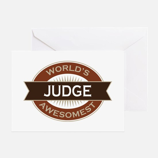 Judge (World's Awesomest) Greeting Card
