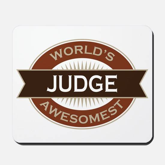 Judge (World's Awesomest) Mousepad