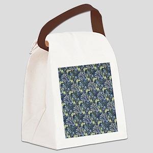 William Morris Blue Daisies Canvas Lunch Bag