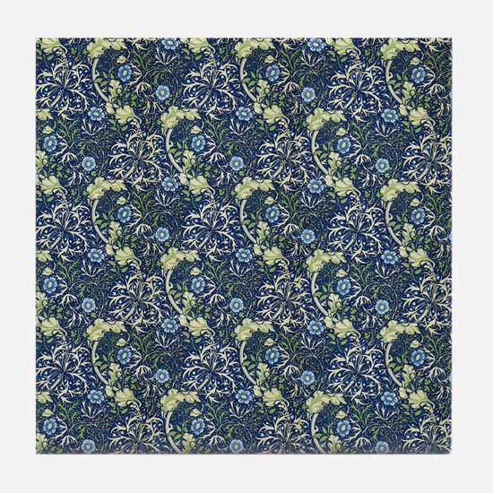 William Morris Blue Daisies Tile Coaster