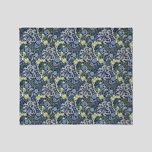 William Morris Blue Daisies Throw Blanket