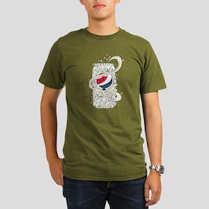 Pepsi Can Doodle Organic Men's T-Shirt (dark)