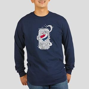 Pepsi Can Doodle Long Sleeve Dark T-Shirt