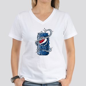 Pepsi Can Doodle Women's V-Neck T-Shirt