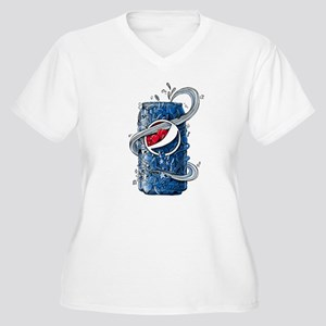 Pepsi Can Doodle Women's Plus Size V-Neck T-Shirt