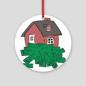 Money Pit House Ornament (Round)