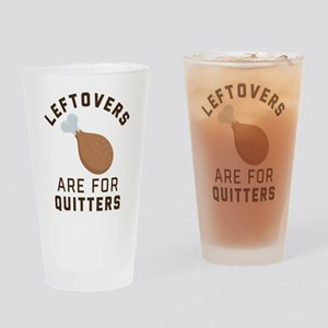 Leftovers are for Quitters Emoji Drinking Glass