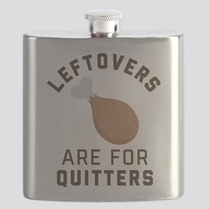 Leftovers are for Quitters Emoji Flask