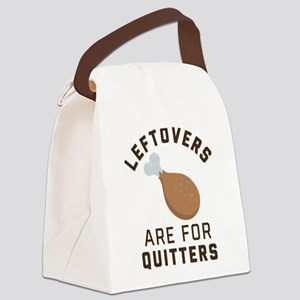 Leftovers are for Quitters Emoji Canvas Lunch Bag