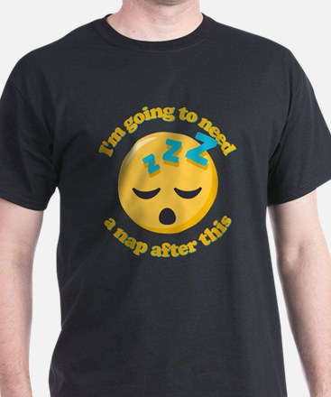 Need a Nap Emoji T-Shirt
