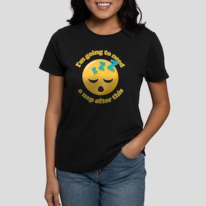 Need a Nap Emoji Women's Dark T-Shirt