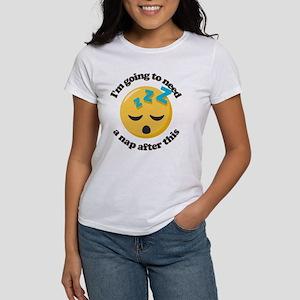 Need a Nap Emoji Women's Classic White T-Shirt