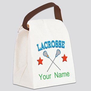 Lacrosse Personalized Star Canvas Lunch Bag