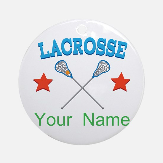 Lacrosse Personalized Star Ornament (Round)