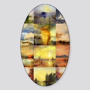 Turner Collage Sticker (Oval)
