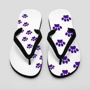 dc52f128c0228 Tiger Paw Print Flip Flops - CafePress