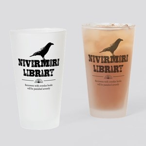 Nevermore Library Drinking Glass