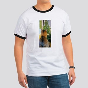 Cat and Christmas Tree T-Shirt