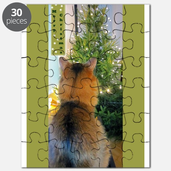 Cat And Christmas Tree Puzzle