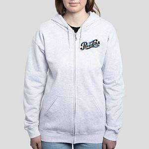 Pepsi Logo Glitch Women's Zip Hoodie