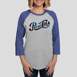 Pepsi Logo Glitch Womens Baseball Tee