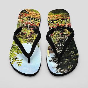 Monet - Garden in Bloom at Sainte-Addre Flip Flops