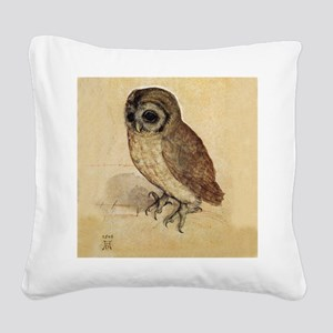 The Little Owl by Durer Square Canvas Pillow