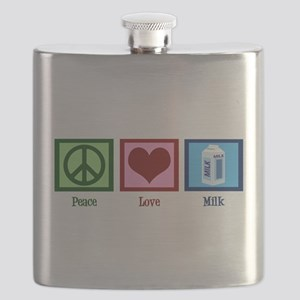 Peace Love Milk Flask