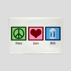 Peace Love Milk Rectangle Magnet