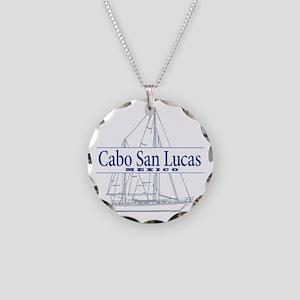 Cabo San Lucas - Necklace Circle Charm