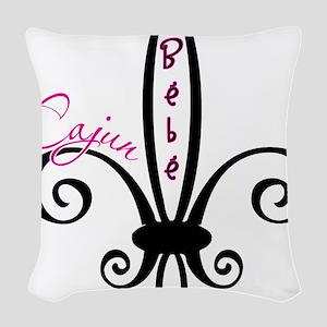 cajunbebe_blue Woven Throw Pillow